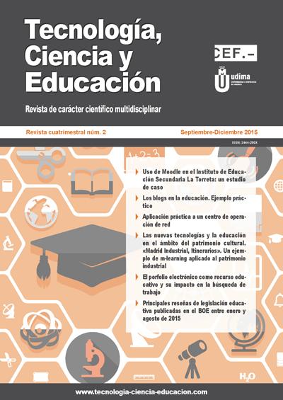 Ver Revista Tecnologia, Ciencia y Educación N.º 2 Septiembre-Diciembre 2015