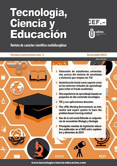 Ver Revista Tecnología, Ciencia y Educación N.º 3 Enero-Abril 2016