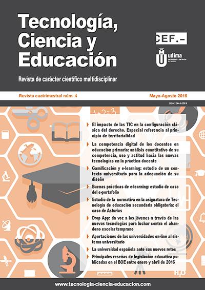Ver Revista Tecnología, Ciencia y Educación N.º 4 Mayo-Agosto 2016