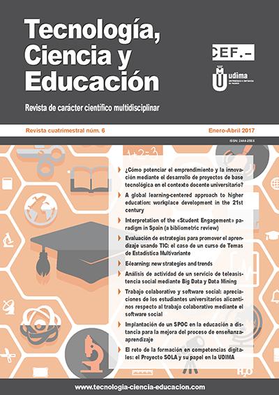 Ver Revista Tecnología, Ciencia y Educación N.º 6 Enero-Abril 2017