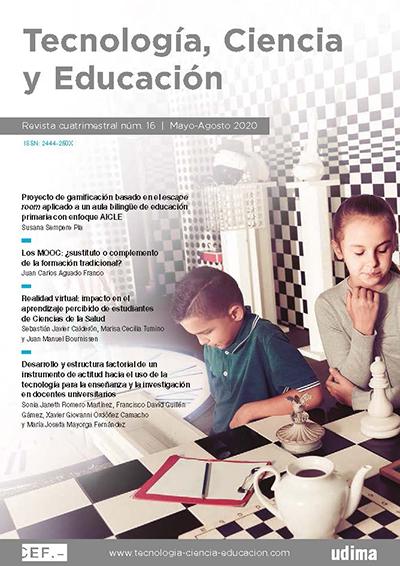 Ver Revista Tecnología, Ciencia y Educación. N.º 16 Mayo-Agosto 2020
