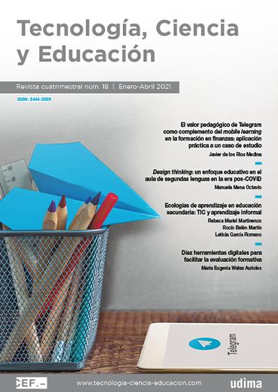 Ver Revista Tecnología, Ciencia y Educación Nº 18 Enero-Abril 2021