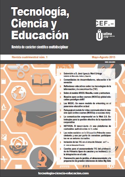 Ver Revista Tecnología, Ciencia y Educación N.º 1 Mayo-Agosto 2015